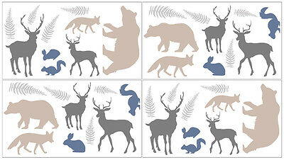 Sweet Jojo Designs Woodland Animal Decal Stickers Fox Deer Wall Art Room Decor