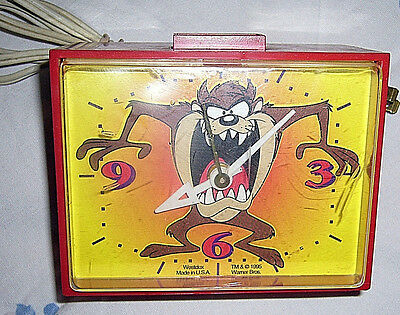 1995 Retro Westclox USA Tasmanian Devil Looney Tunes Electric Alarm Clock