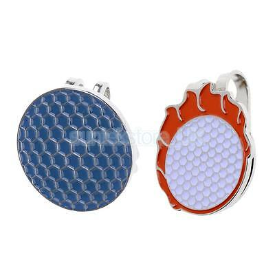 2PCS Pocket Alloy Magnetic Golf Ball Marker with Hat Clip Golf Accessory