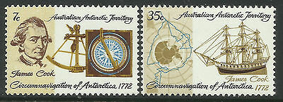 AUSTRALIAN ANTARCTIC AAT 1972 CAPTAIN COOK SHIP 2v MNH