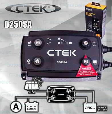 Ctek Latest D250Sa Dc To Dc Solar Smart Battery Charger Replaces D250S Dual