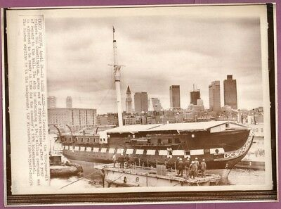 1974 Frigate USS Constitution Leaving Drydock Boston Massachusetts Wirephoto