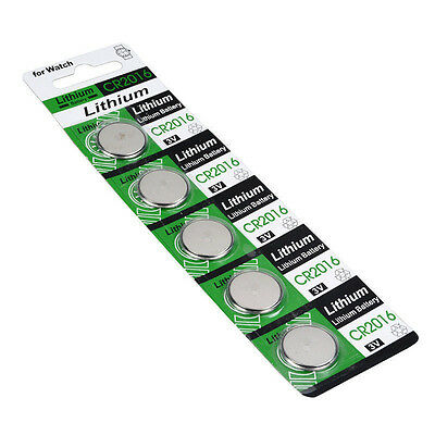 Lots 5pcs CR2016 3V Batteries CR 2016 DL2016 ECR2016 3V Button Coin Cell Battery