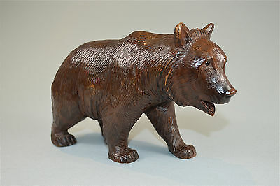 Original large antique Hand carved wooden Black Forest bear c.1900-1910