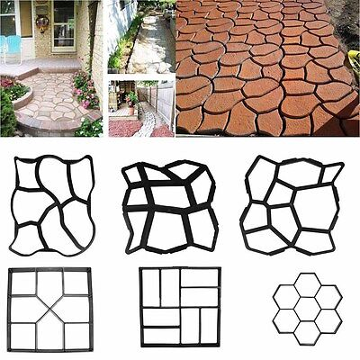 DIY Driveway Paving Pavement Patio Concrete Stepping Path Garden Walk Maker Mold