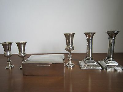 solid silver use / srcap job lot full english hallmarks  large goblet is chester