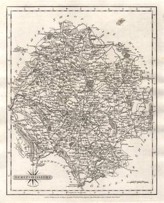 Antique county map of HEREFORDSHIRE by JOHN CARY 1787 old chart