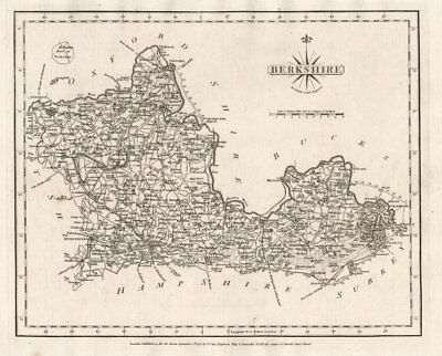 Antique county map of BERKSHIRE by JOHN CARY 1787 old plan chart