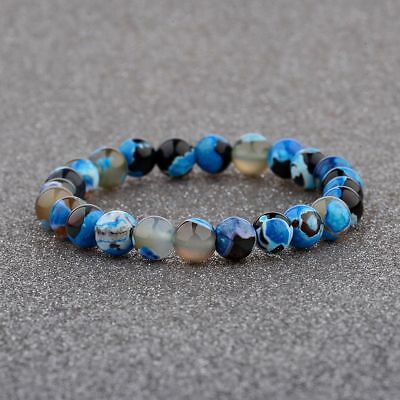 8MM Natural Stone Charm Men And Women Fashion Colorful Friendship Bracelet Gift