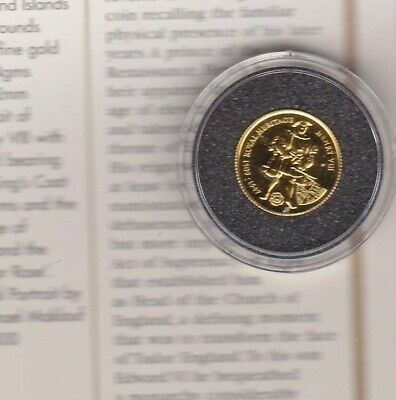 1997 Falkland Islands Gold £2 Coin Henry Viii With Certificate