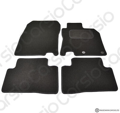 Tailored Black Car Floor Mats Carpets FOR Nissan Qashqai 2014 - Onwards 4pc Set