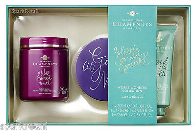 Champneys Spa WORKS WONDERS COLLECTION Gift Box Bubble Heaven/Souffle/Hand Cream