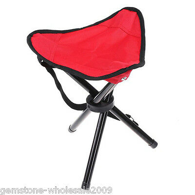 Portable Outdoor Triangle Fishing Stool Foldable Chair Pocket Stool Canvas HOT
