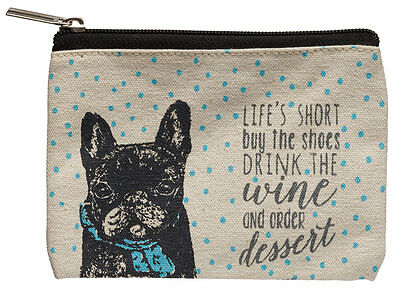 French Bulldog Coin Bag Zippered Pouch Travel Makeup Coin Purse