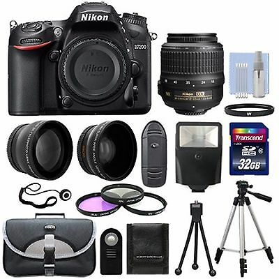 "Nikon D7200 Digital HD-SLR Body with 3.2"" LCD WiFi Deluxe Bundle"