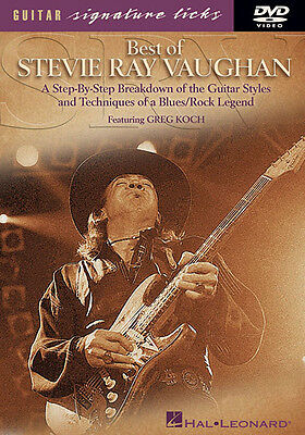 Best of Stevie Ray Vaughan Guitar Signature Licks SRV Rock Lessons Video DVD NEW