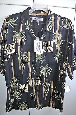 Quicksilver  Mens Large  Simple Tapa & Bamboo on Black/NWT