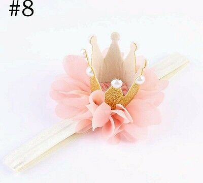 PINK Birthday Girl Crown Party Hat Cake Smash headband Dress outfit Toddler 1st