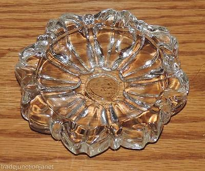 """Nm Vintage Anchor Hocking """"old Cafe""""(?) Small Crystal Clear Glass 3.25"""" Ashtray"""