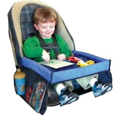 Multifunctional Car Seat Safe Waterproof Table Kids Snack Play Travel Tray D6F1