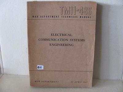 April 1945 Technical Manual 11-486 Electrical Communication Systems Engineering
