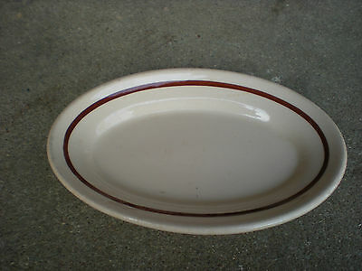 Sterling Desert Tan Oval PlateVetrified China E Liverpool Ohio USA Restaurantwar
