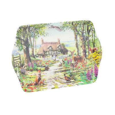 Joe Davies Creatures Great and Small Melamine Snack Coffee Tea Food Serving Tray