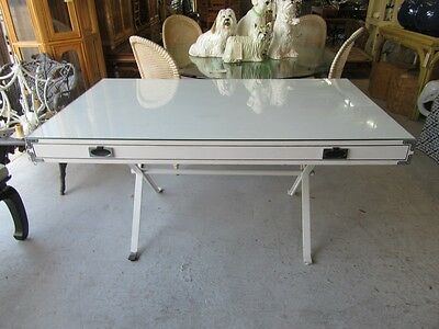 Chic 70's X Campaign Style Desk Palm Beach Regency