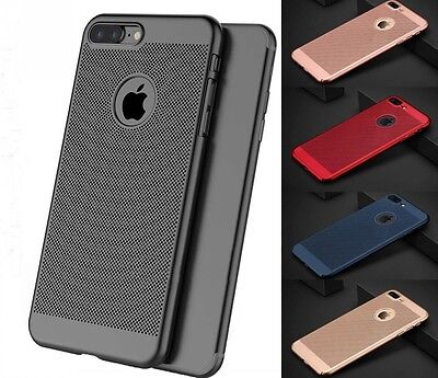 Luxury Ultra Thin Slim PC Mesh Hard Back Case Cover For Apple iPhone 6s 7 8 Plus