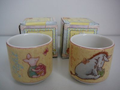 Royal Doulton Winnie the Pooh Egg Cups x 2 Piglet Eeyore new in box Cute Gift