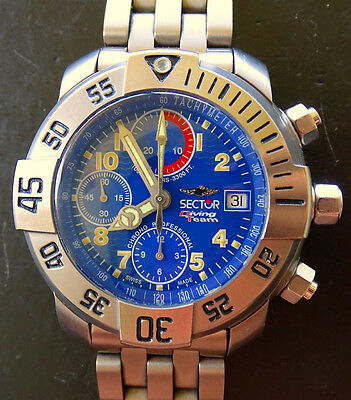 Sector No Limits Diving Team 1000 Titan Automatik Chronograph Ref.3123985035 OVP