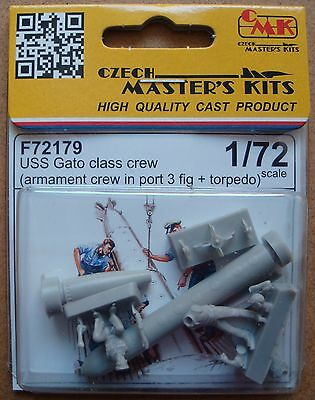 CMK F72179 WWII US Gato Class Crew + Torpedo Resin Figuren in 1:72
