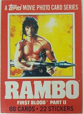 RAMBO : FIRST BLOOD PART 2 Trading Card set of 66 TOPPS 1985 Sylvester Stallone