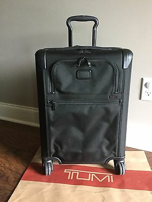TUMI Alpha 2 Continental Zip Expandable Carry-on Suitcase Luggage 22061 Black