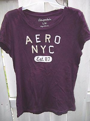 b585ad5f AEROPOSTALE NYC S/S tee shirt women's Juniors L purple - $5.19 ...
