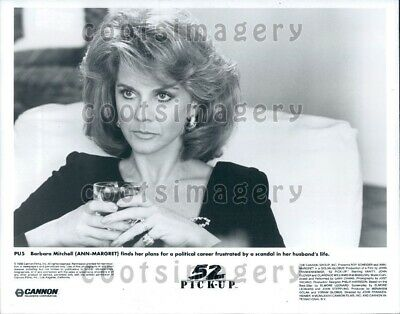1986 Wire Photo Actress Ann--Margret in Crime Thriller Movier 52 Pick Up