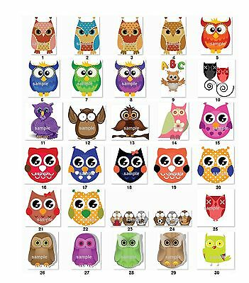 Personalized Return Address Cute Owls Labels (co1) Buy 3 Get 1 free