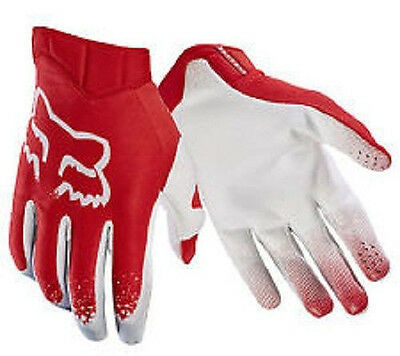 Fox Airline Moth Mens MX ATV Motorcycle Off-road Red Gloves 17287-003