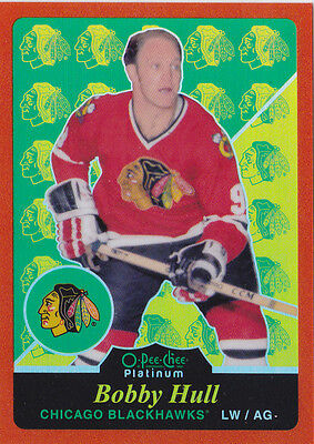 16-17 OPC Platinum Bobby Hull /49 Retro Orange Rainbow OpeeChee Blackhawks 2016
