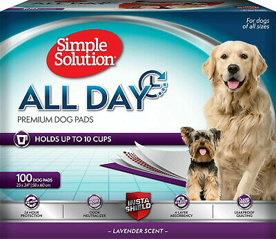 Simple Solution All Day Premium Lavender Dog Pads, 23x24 100ct