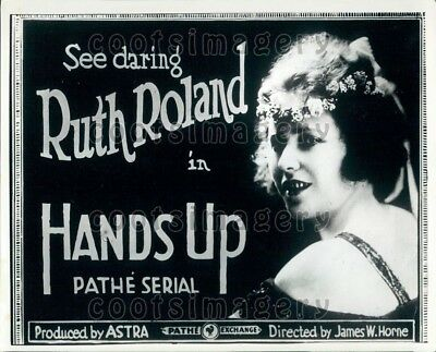 Wire Photo Movie Advertisement Actress Ruth Roland in Hands Up