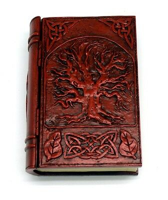 Red Embossed Tree of Life Book Jewelry Trinket Box with Hinged Lid New