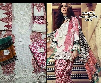 Maria b inspired embroidered lawn suit anarkali pakistani designer suit