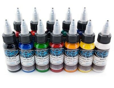 Fusion Ink 12 St. - 30 ml Profi Tattoo Ink Tattoo Farben Tinten Color Set Neu