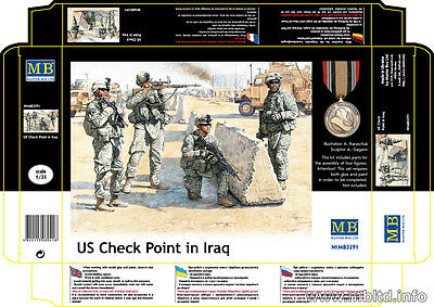 Master Box 1/35 US Check Point in Iraq (4 figures)