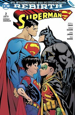 SUPERMAN REBIRTH SONDERBAND #2 (deutsch) SUPER-SÖHNE Batman + Robin +Swamp Thing