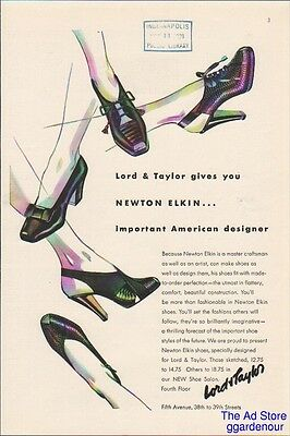 1939 Lord & Taylor Department Store New York  Newton Elkin Women's Shoes Ad