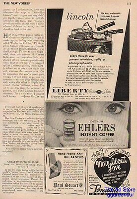 1952 Lincoln Model 50 Record Player Liberty Music Shops New York NY Ad
