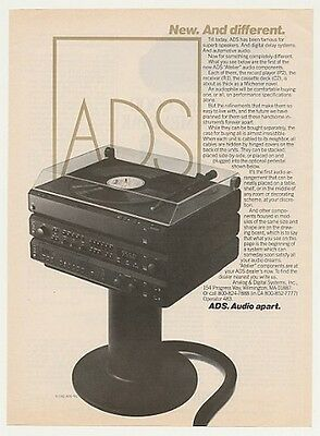 1982 ADS Atelier Stereo System Print Ad