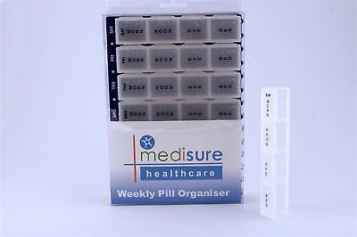 MediSure 28 Compartment Pill Reminder/Weekly Organiser - Large